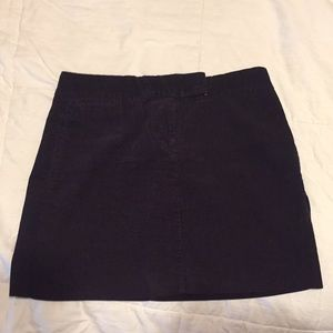 J Crew Purple Corduroy Mini Skirt Size 2